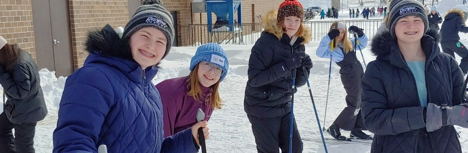 TBMS students enjoying the snow