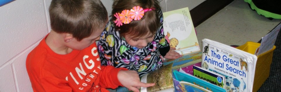 Sunnyside boy and girl reading