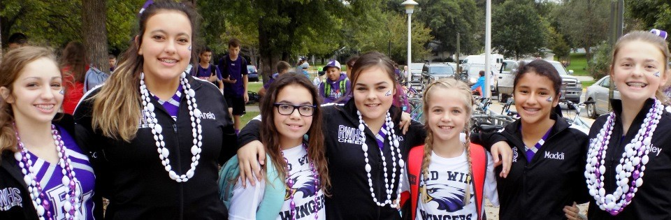 TBMS girls at homecoming parade
