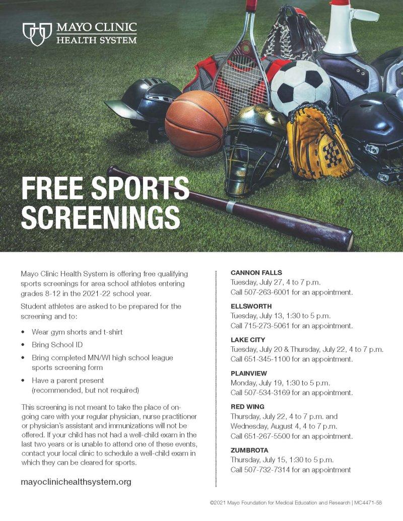 Sports screennings